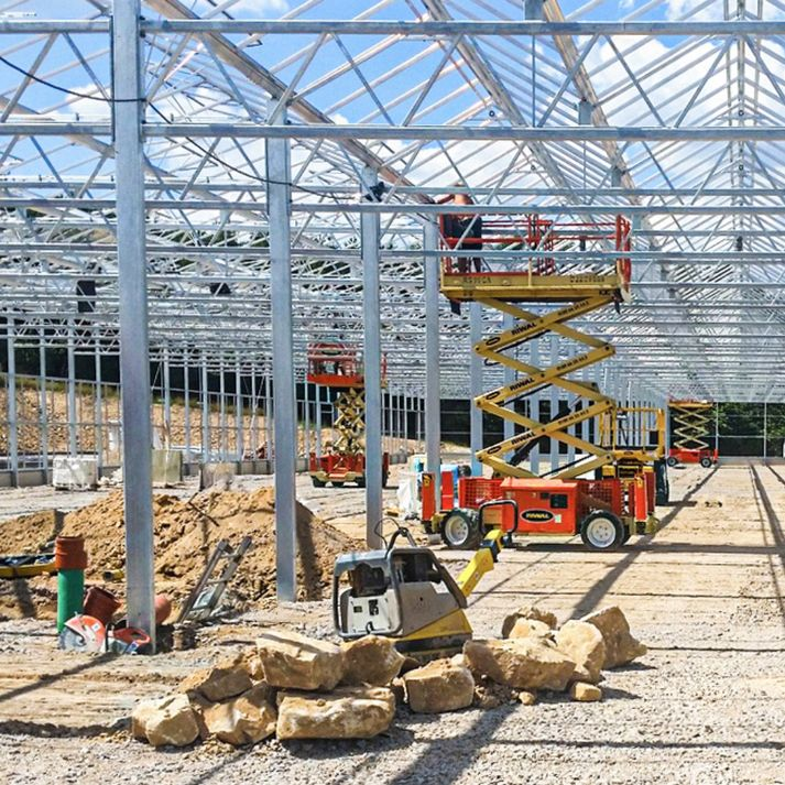 Turnkey construction of greenhouses and garden centres