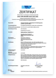 Welding certificate for welding of aluminium support structures acc. to DIN 1090-3
